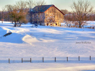 Snowy Farm by jim88bro