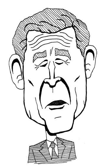 George W. Bush caricature