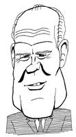 Gerald Ford caricature