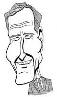George H. W. Bush caricature