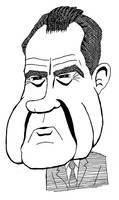 Richard Nixon caricature