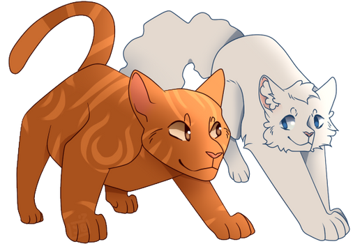 Commision - Cooperwing and Cloudpaw