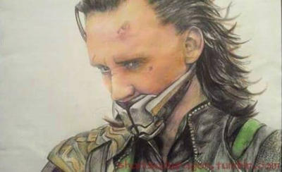 Hand Drawn Loki of Asgard  by Shandwragon