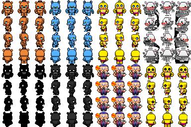Rpg maker fnaf2 characters by willer111 on deviantart