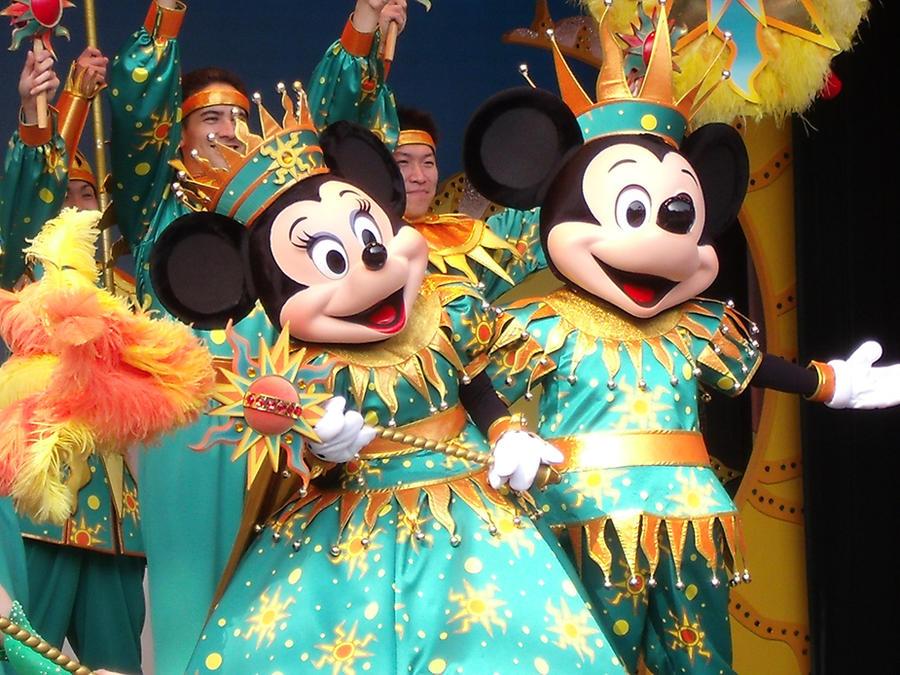 Celebrate with Minnie and Mickey by LostWendy