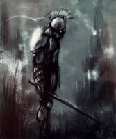 Knight in Rain by Aths-Art