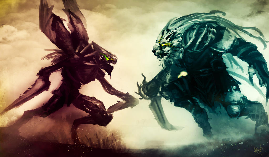 League of Legends Rivals: Rengar Vs Khazix by AthavanArt