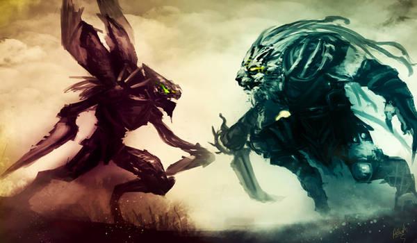 League of Legends Rivals: Rengar Vs Khazix by Aths-Art