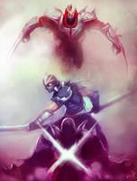 League of Legends Rivals: Shen vs Zed by Aths-Art