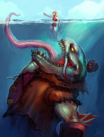 Tahm Kench, The River King by Aths-Art