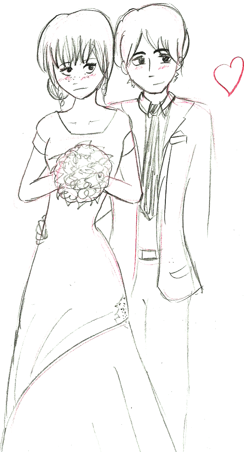 another wedding drawing by beccaecka on deviantart