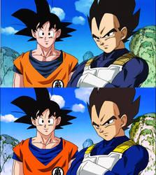 Goku y sus amigos by TihanaPimentel