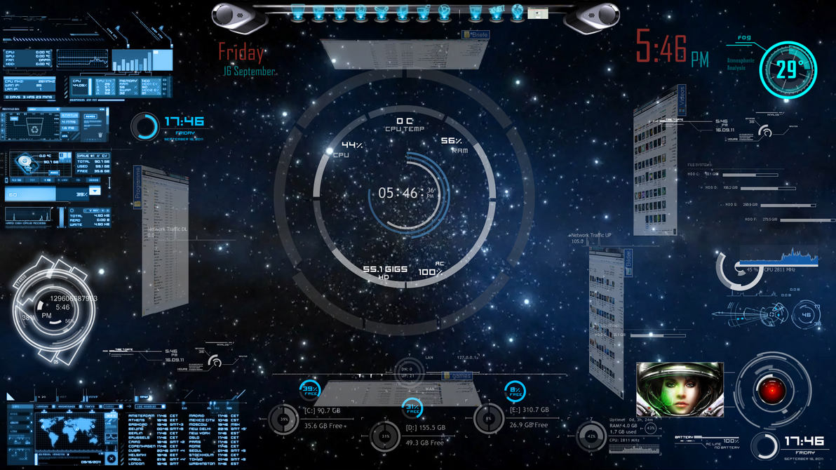My first rainmeter desktop by docberlin77 on deviantart for Bureau windows 7 rainmeter