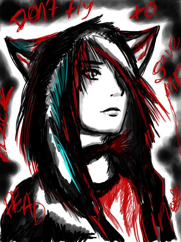 Neko dead by ghostwolfen