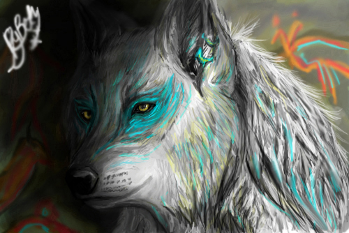 Only a spirit of what I used to be... Finian, the one who is trapped between MoonPack and here. The_ghost_wolf_by_ghostwolfen