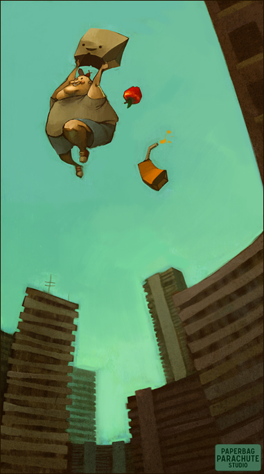 paperbag parachute by loish