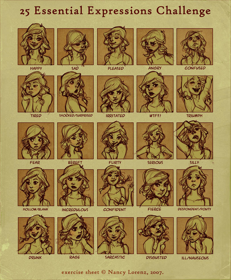 25 expressions challenge by loish