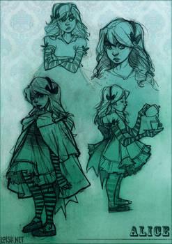 alice sketch page