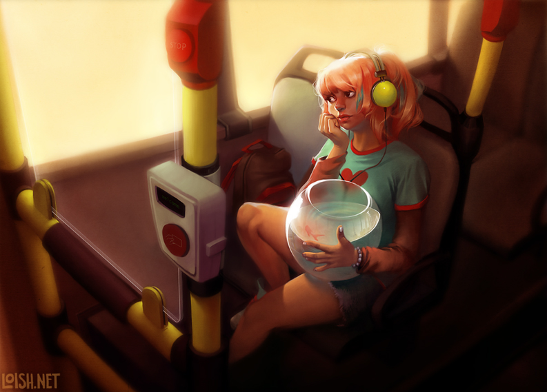 bus ride by loish