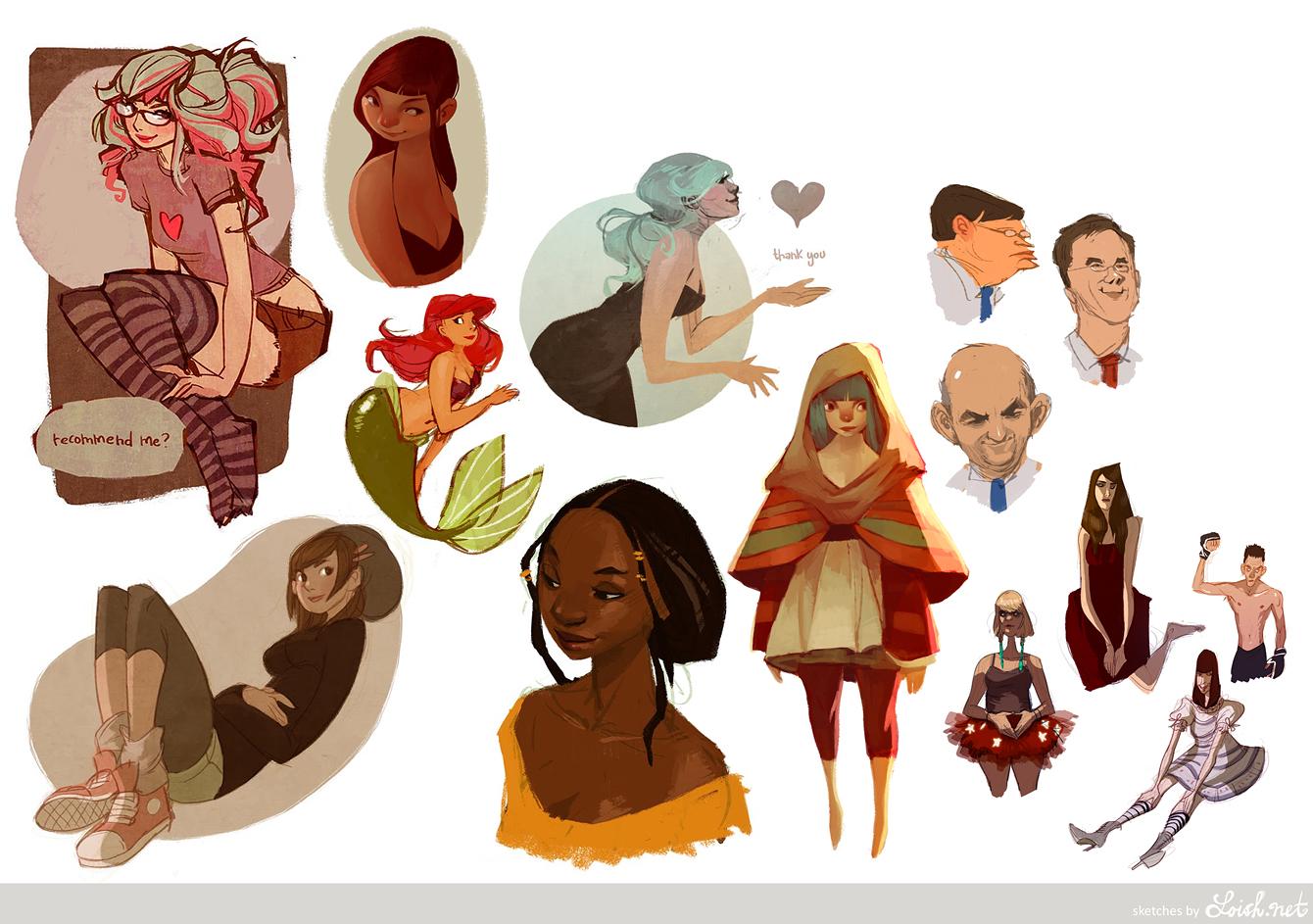 sketchblog sketchdump 3 by loish