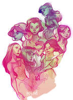princess doodles by loish