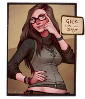 Sarah: geek is the new sexy by loish