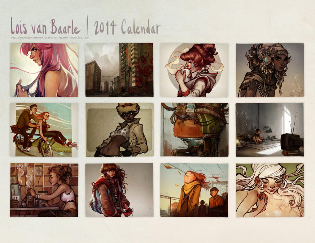 2014 calendar by loish
