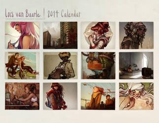 2014 calendar by loish