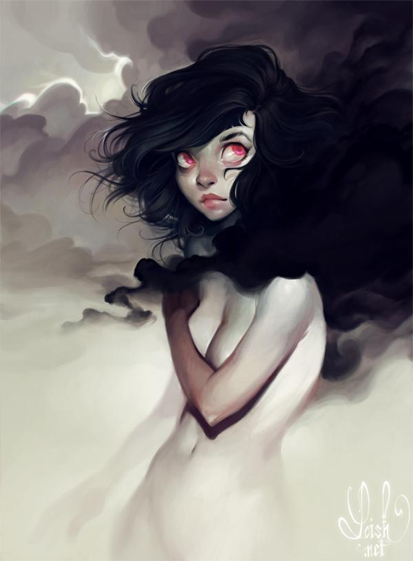 dark clouds by loish