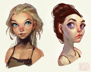 portraits by loish