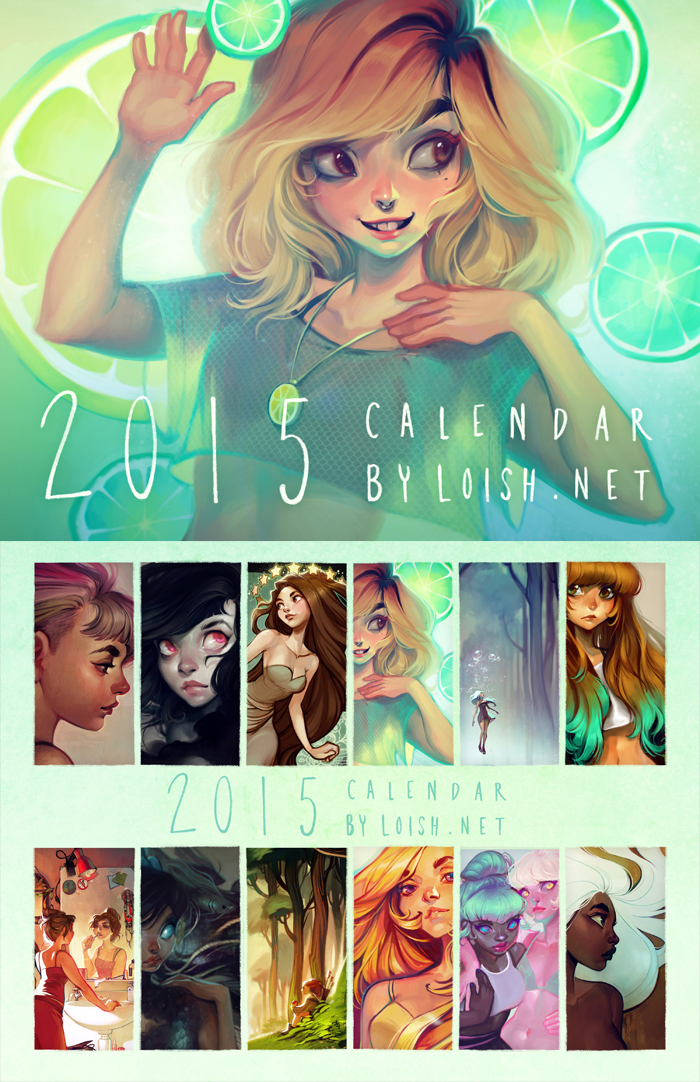 Deviantart Calendar : Calendar by loish on deviantart