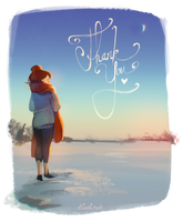 Thank You by loish