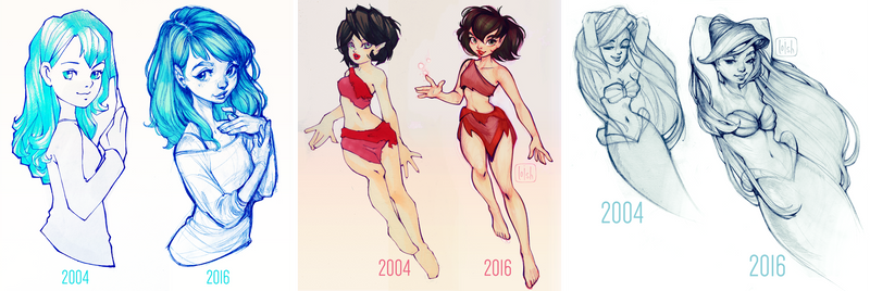12 years of improvement by loish