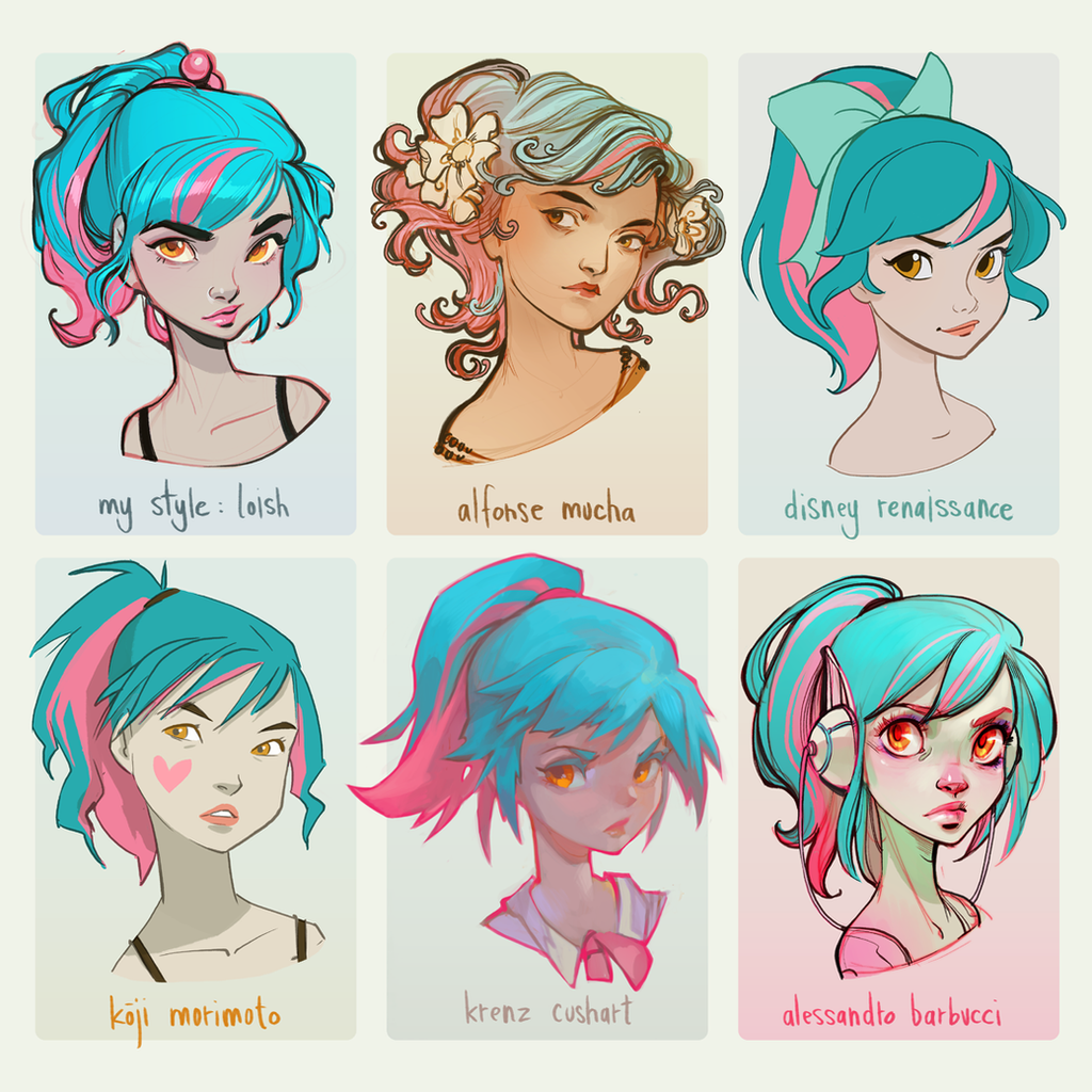 Character Design Painting Tutorial : Style challenge by loish on deviantart