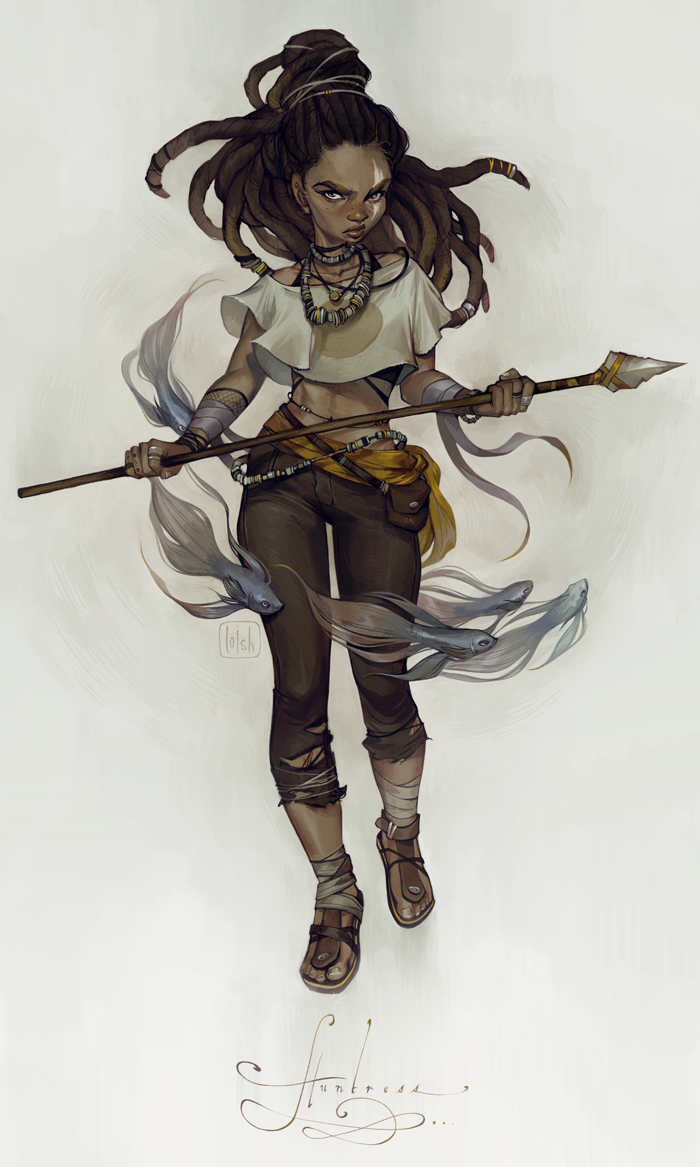 Character Design Artwork : Huntress by loish on deviantart