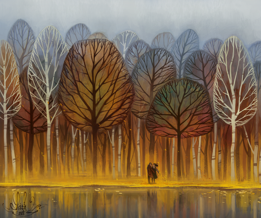 Autumn by loish on deviantart for The art of painting