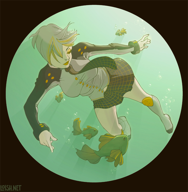 not-so-plaid fish by loish