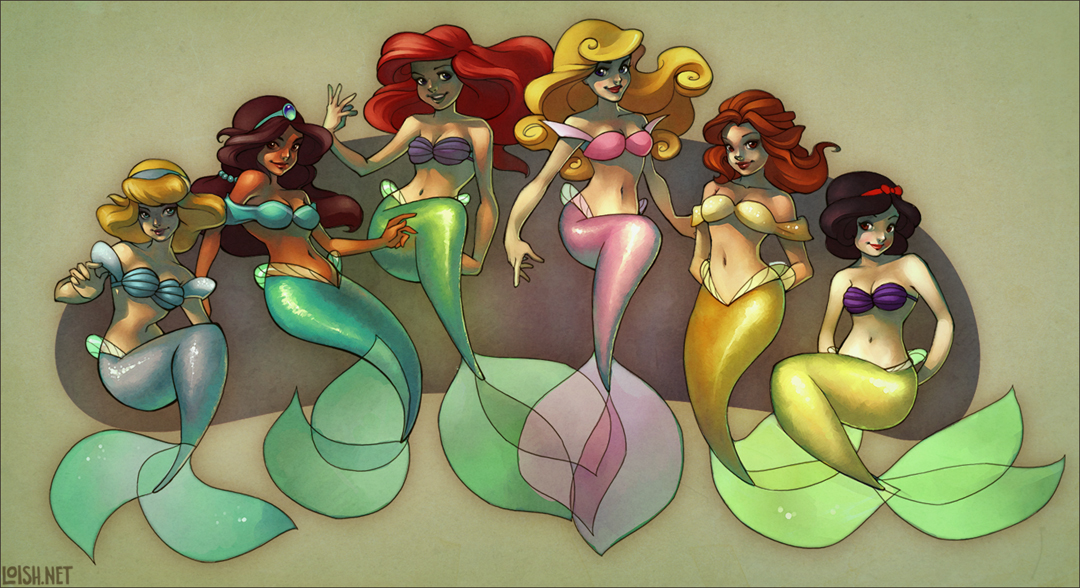 buncha mermaids colored by loish