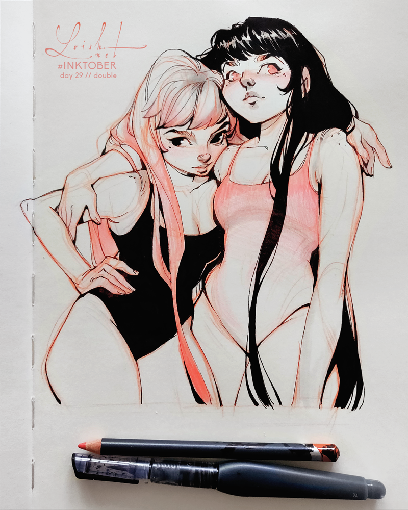 inktober 2018 - double by loish