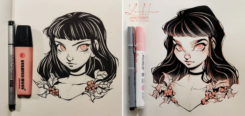inktober 2018 - improvement by loish