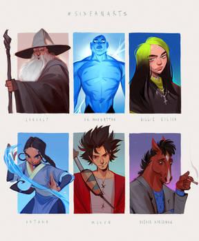 six fanarts