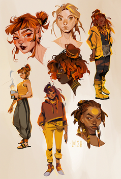 yellow sketches
