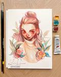 brushtober 01 // testing watercolors