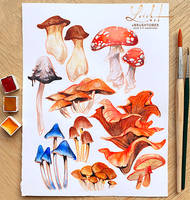 brushtober 03 // mushrooms