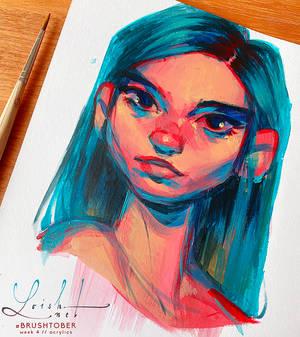 brushtober 05 // blue hair