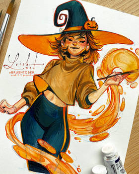 brushtober 06 // witch