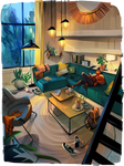 interior practice // living room
