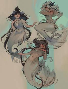 mucha mermaids