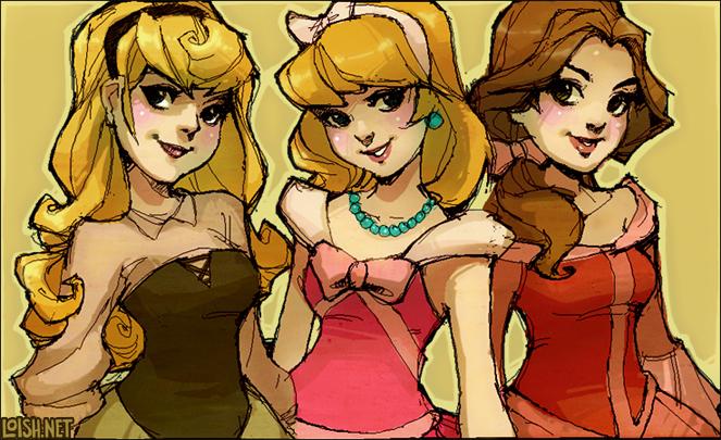 princesses by loish