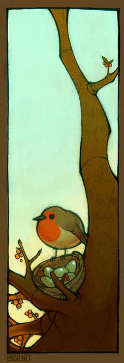 robin by loish